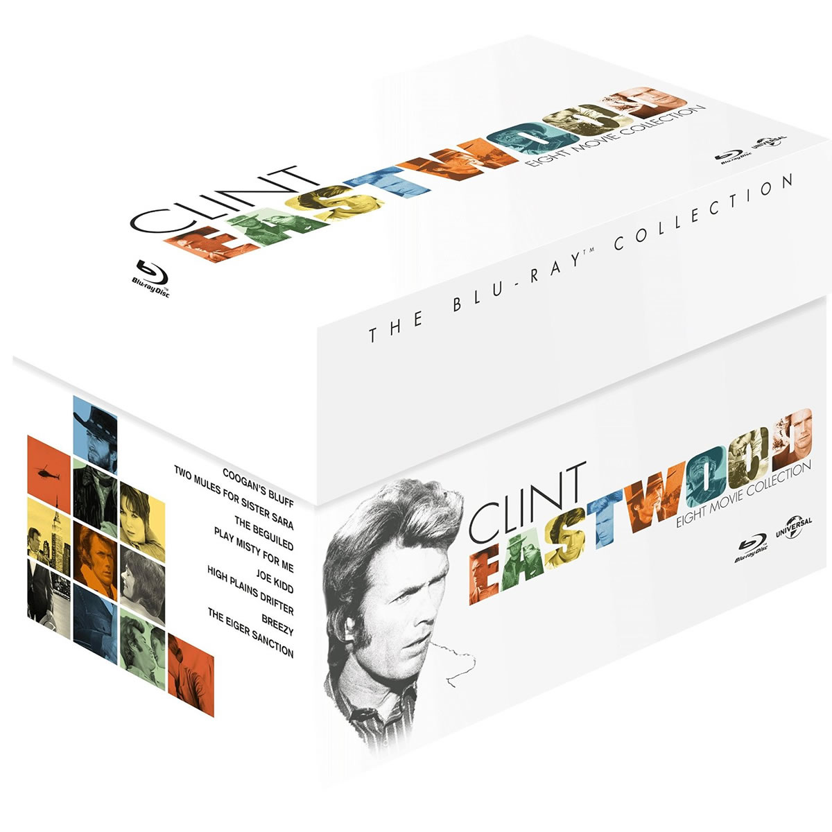 CLINT EASTWOOD - THE BLU-RAY COLLECTION 8 MOVIES BOX SET (8 BLU-RAYs)